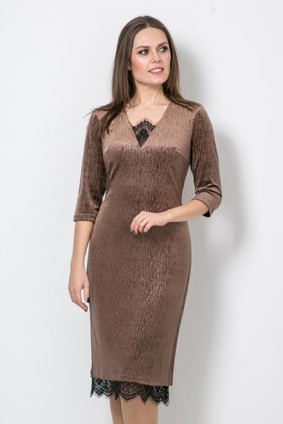 Платье из бархата, П-530