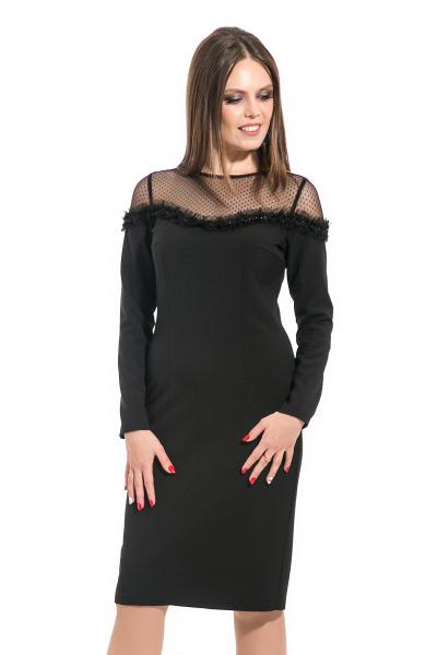 Платье с открытыми плечами, П-528